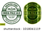 beer oval label  typographic... | Shutterstock .eps vector #1018061119