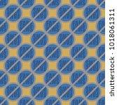 conceptual seamless pattern... | Shutterstock .eps vector #1018061311
