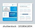 annual report  broshure  flyer  ... | Shutterstock .eps vector #1018061854