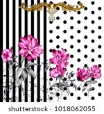 silk scarf design  fashion... | Shutterstock . vector #1018062055
