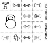 barbell icons. set of 13... | Shutterstock .eps vector #1018063141