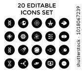molecule icons. set of 20... | Shutterstock .eps vector #1018067239