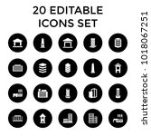 district icons. set of 20... | Shutterstock .eps vector #1018067251
