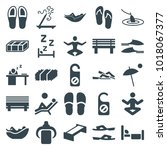 relax icons. set of 25 editable ... | Shutterstock .eps vector #1018067377