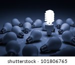 eco energy saving light bulb  ... | Shutterstock . vector #101806765