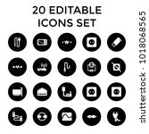plug icons. set of 20 editable... | Shutterstock .eps vector #1018068565