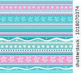 mint and pink background.... | Shutterstock .eps vector #1018070374
