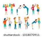 bode language hand gestures...   Shutterstock .eps vector #1018070911