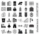 urban icons. set of 36 editable ... | Shutterstock .eps vector #1018072939