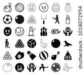 ball icons. set of 36 editable... | Shutterstock .eps vector #1018072954