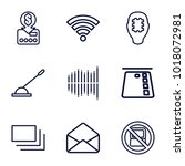electronic icons. set of 9... | Shutterstock .eps vector #1018072981