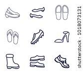 footwear icons. set of 9... | Shutterstock .eps vector #1018073131