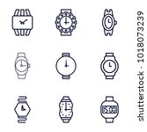 wrist icons. set of 9 editable... | Shutterstock .eps vector #1018073239