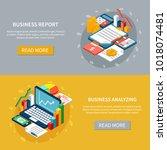 accounting isometric horizontal ... | Shutterstock .eps vector #1018074481