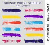 watercolor  ink or paint brush... | Shutterstock .eps vector #1018078255