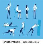vector business illustration ... | Shutterstock .eps vector #1018080319