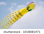 an octopus shaped kite    Shutterstock . vector #1018081471