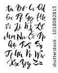 handwritten  alphabet.... | Shutterstock .eps vector #1018082815