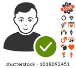user valid pictograph with... | Shutterstock .eps vector #1018092451