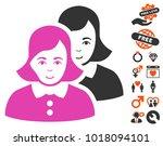 women pictograph with bonus... | Shutterstock .eps vector #1018094101