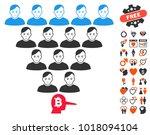 bitcoin ponzi pyramid manager...   Shutterstock .eps vector #1018094104