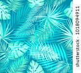seamless pattern of tropical... | Shutterstock .eps vector #1018094911