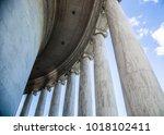 marble ionic columns | Shutterstock . vector #1018102411
