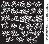 vector handwritten calligraphic ... | Shutterstock .eps vector #1018102879
