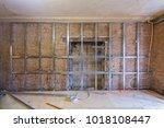 frames for plasterboard  metal... | Shutterstock . vector #1018108447
