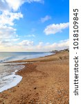 Small photo of A view along Brighton Beach, looking towards Hove and Shoreham