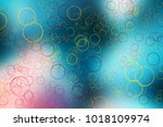 ring circle over colorful... | Shutterstock . vector #1018109974