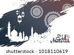 abstract islamic religion eid... | Shutterstock .eps vector #1018110619