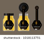 packaging for honey. honey logo.... | Shutterstock .eps vector #1018113751