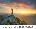 mountain valley during bright... | Shutterstock . vector #1018114267