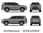 big car. front view  side view  ... | Shutterstock .eps vector #1018120069