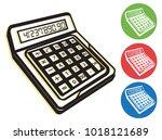 calculator icon   illustration... | Shutterstock .eps vector #1018121689
