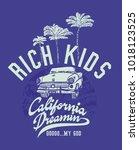 california dreaming palm beach...   Shutterstock .eps vector #1018123525