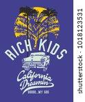 california dreaming palm beach...   Shutterstock .eps vector #1018123531