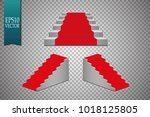 a set of podiums. round podium ... | Shutterstock .eps vector #1018125805