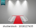 podium and red carpet. round...   Shutterstock .eps vector #1018127635
