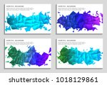 vector set of faceted 3d... | Shutterstock .eps vector #1018129861