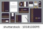 corporate identity branding... | Shutterstock .eps vector #1018133095
