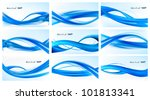 collection of blue abstract... | Shutterstock .eps vector #101813341