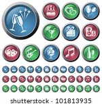 celebration and party button set | Shutterstock .eps vector #101813935