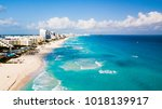 aerial view of cancun  mexico... | Shutterstock . vector #1018139917
