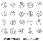 simple set of brain related... | Shutterstock .eps vector #1018142884
