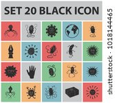 types of funny microbes black... | Shutterstock . vector #1018144465