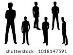 vector silhouettes of men ... | Shutterstock .eps vector #1018147591