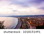landscape of nice   france   Shutterstock . vector #1018151491