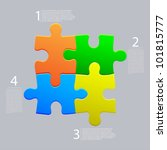 vector abstract web puzzle.... | Shutterstock .eps vector #101815777